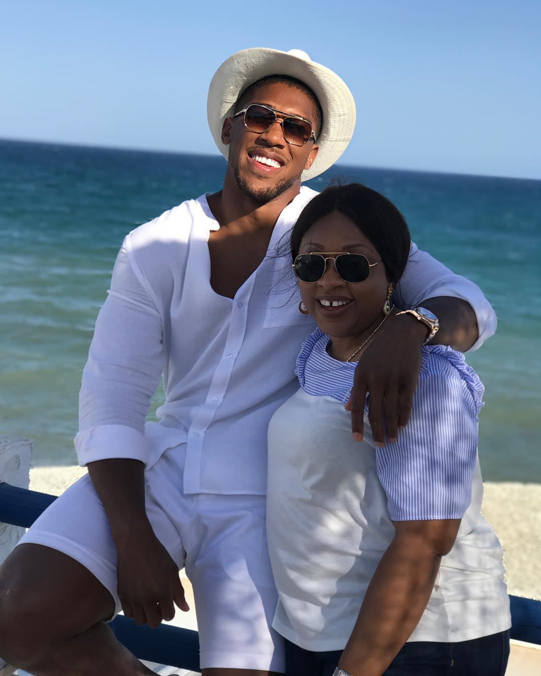 Anthony Joshua and his mum