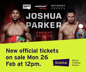Anthony Joshua vs Joseph Parker tickets