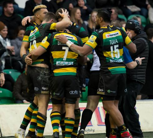 Northampton Saints celebrating