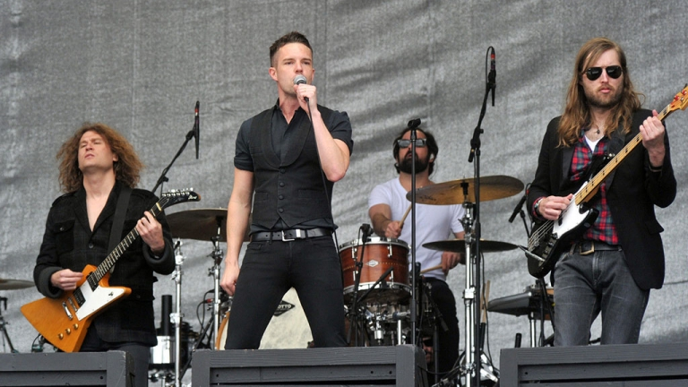 The Killers live on stage