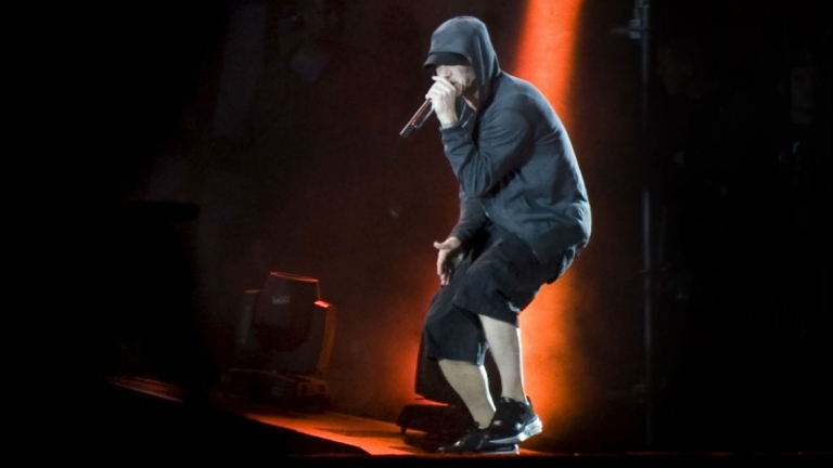 Eminem live on tour in the UK