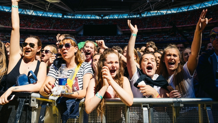 Screaming crowd at Capital Summertime Ball