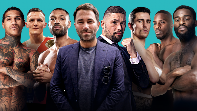 Matchroom fighers with Eddie Hearn